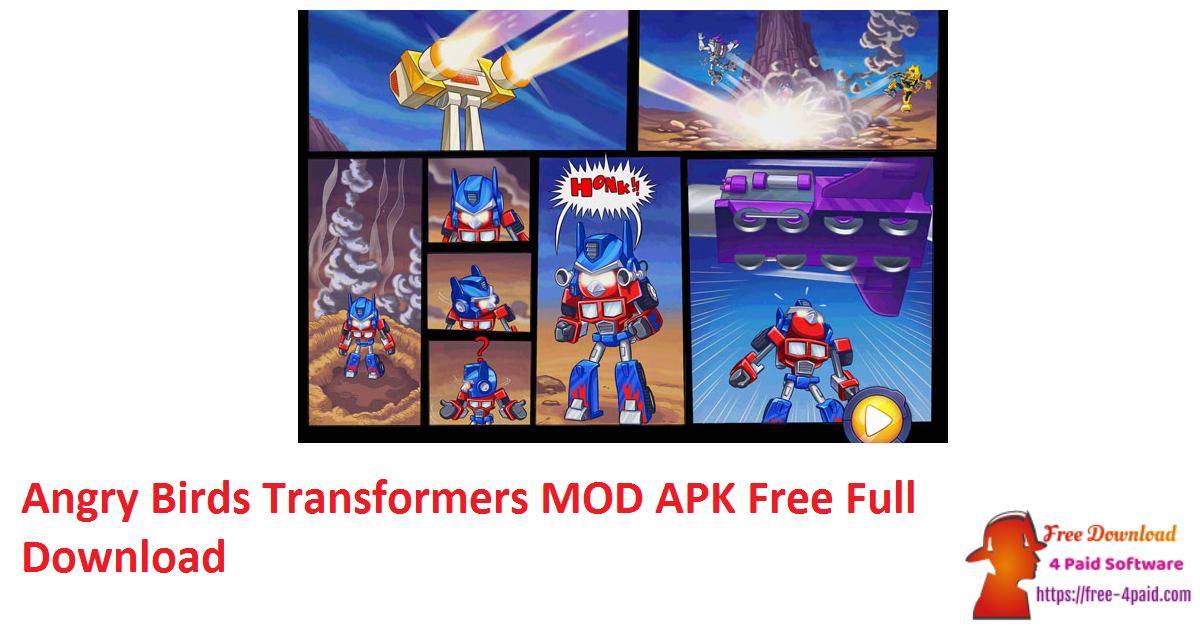 Angry Birds Transformers MOD APK Free Full Download