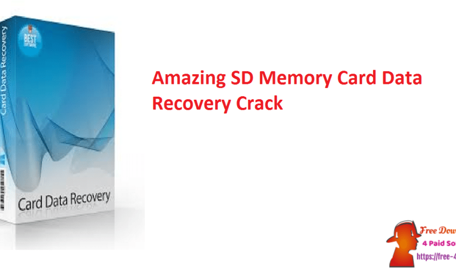 Amazing SD Memory Card Data Recovery 9.1.1.8 With Registration Key