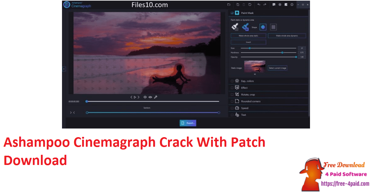 Ashampoo Cinemagraph Crack With Patch Download