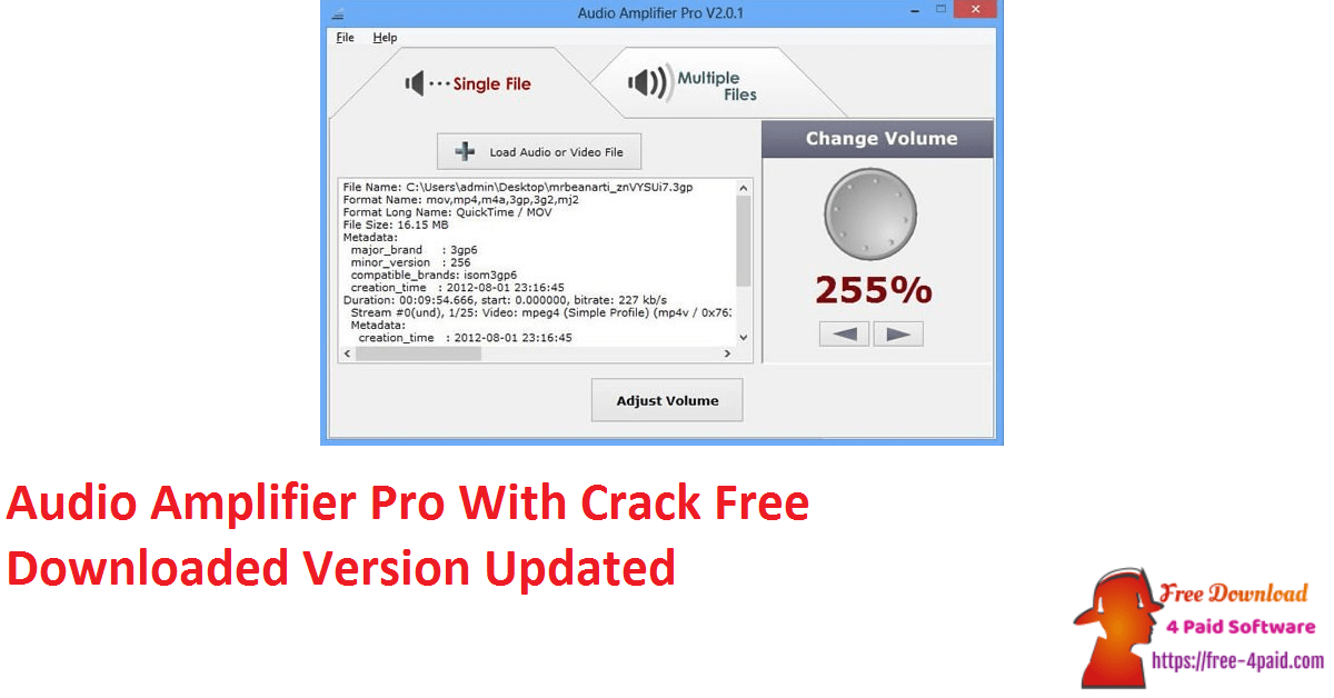 Audio Amplifier Pro With Crack Free Downloaded Version Updated