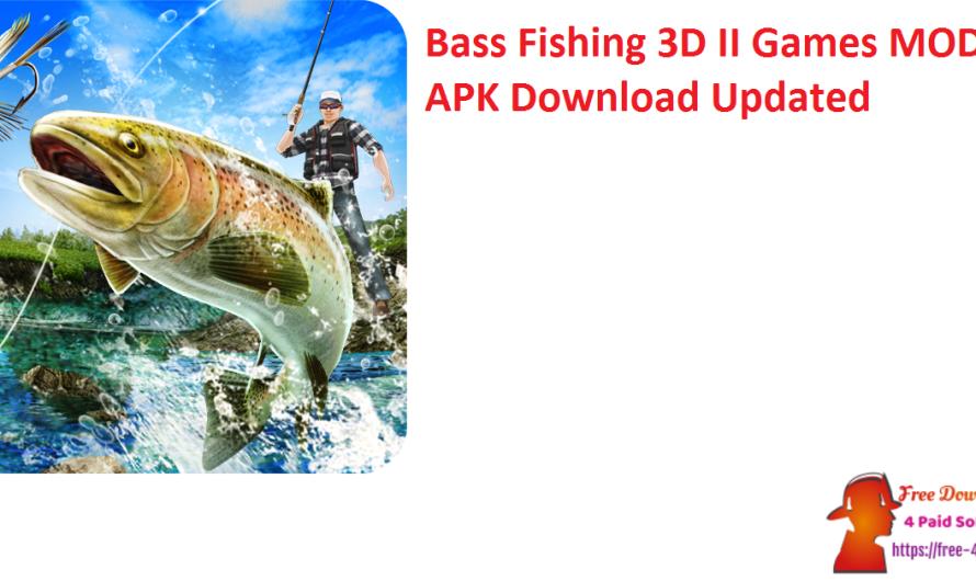 Bass Fishing 3D II Games 1.1.28 Crack MOD APK Download [Updated]