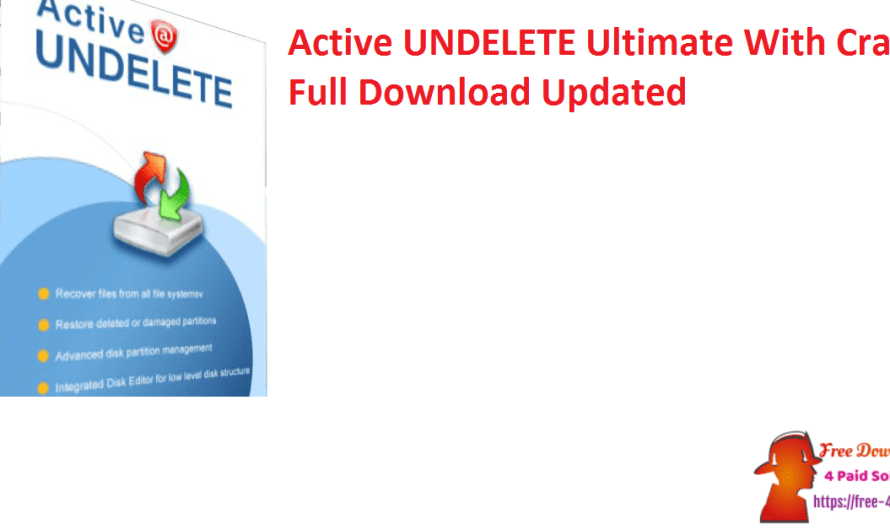 Active UNDELETE Ultimate 17.0.7 With Crack Full Download [Updated]