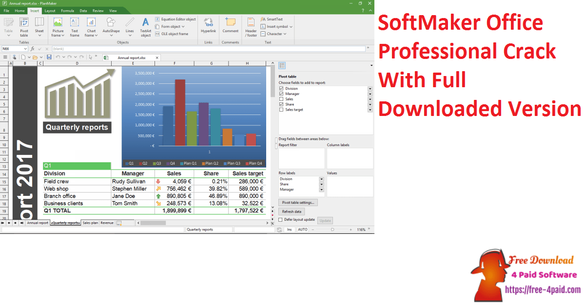 SoftMaker Office Professional Crack With Full Downloaded Version