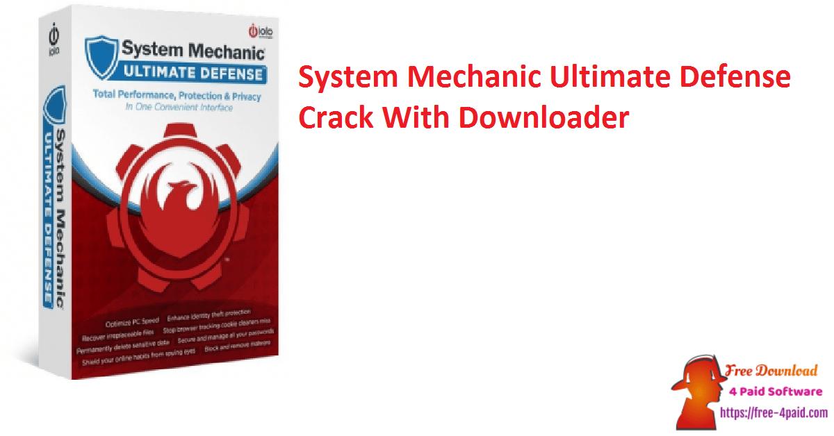 System Mechanic Ultimate Defense Crack With Downloader