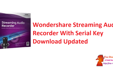 Wondershare Streaming Audio Recorder With Serial Key Download Updated