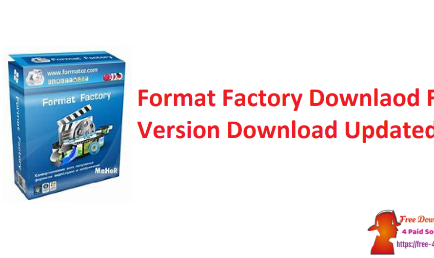 Format Factory Downlaod 5.8.0 Crack Full Version Download [Updated]