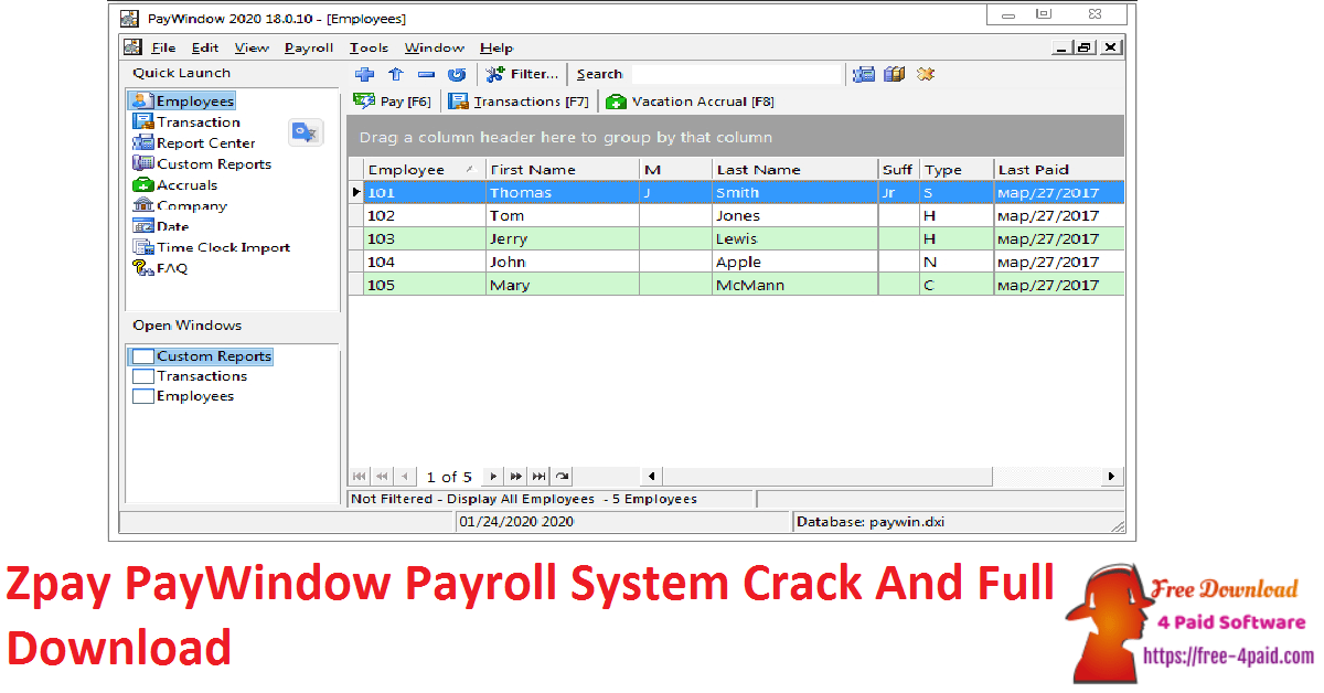 Zpay PayWindow Payroll System Crack And Full Download