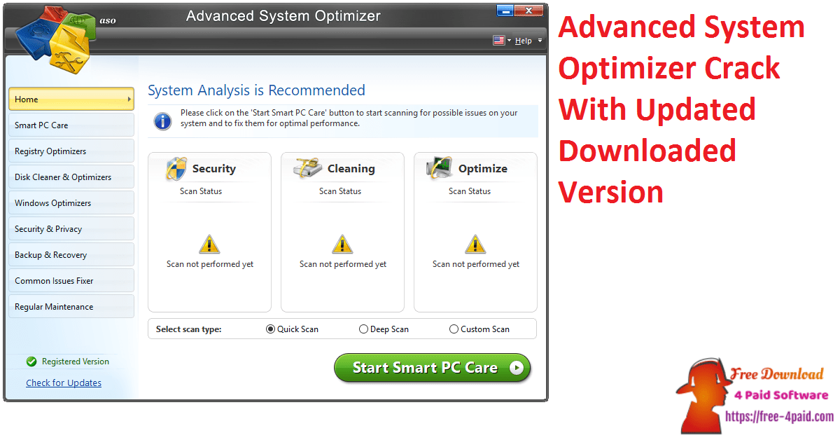 Advanced System Optimizer Crack With Updated Downloaded Version