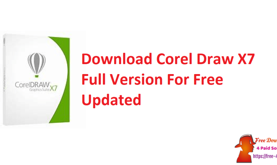 Download Corel Draw X7 Full Version For Free Download [Updated]