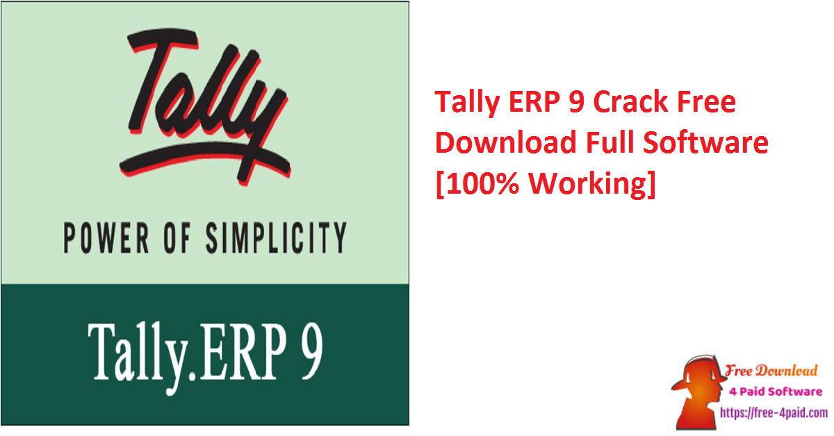 Tally ERP 9 Crack Free Download Full Software [100% Working]