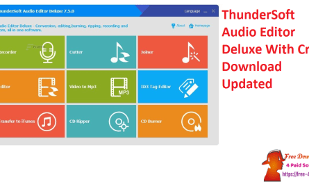 ThunderSoft Audio Editor Deluxe With Crack Download Updated
