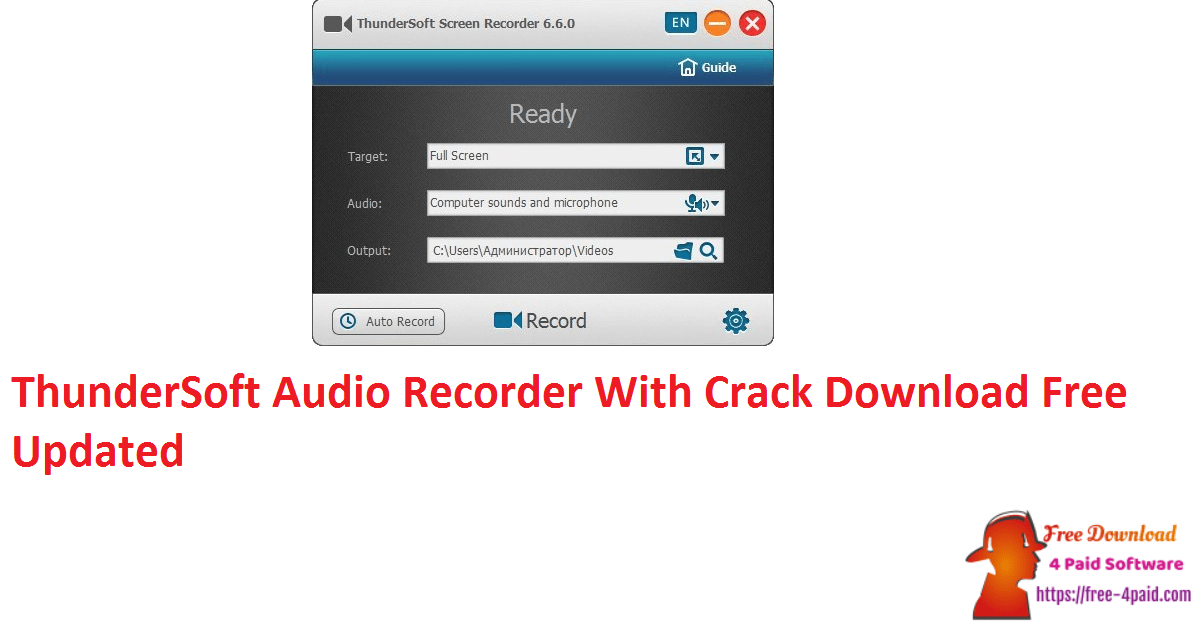 ThunderSoft Audio Recorder With Crack Download Free Updated