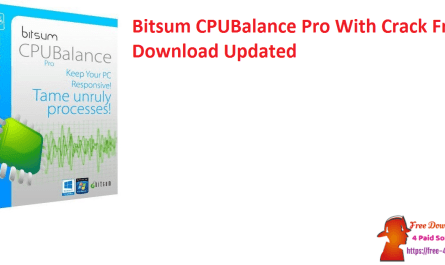 Bitsum CPUBalance Pro With Crack Free Download Updated