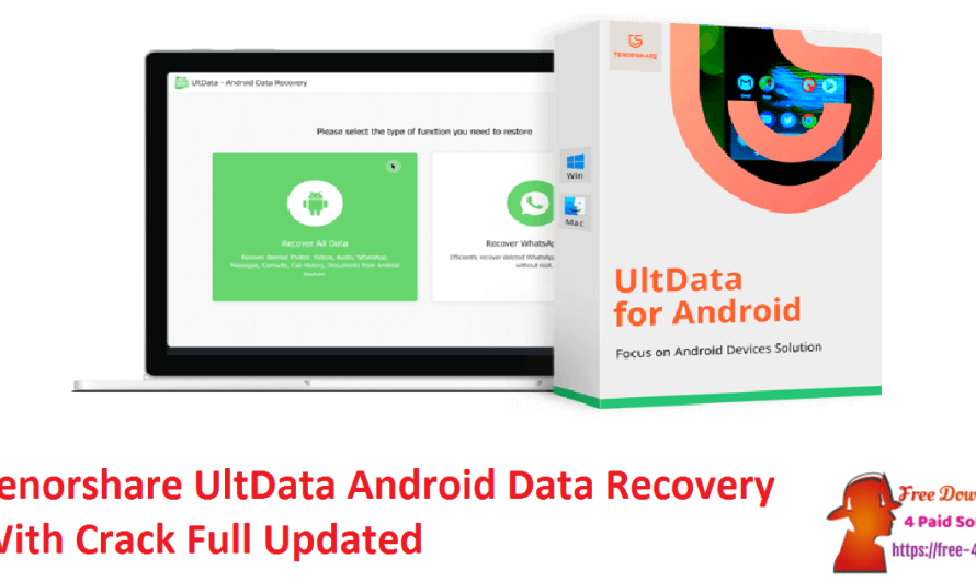 Tenorshare UltData Android Data Recovery 6.4.0.12 Crack [Updated]