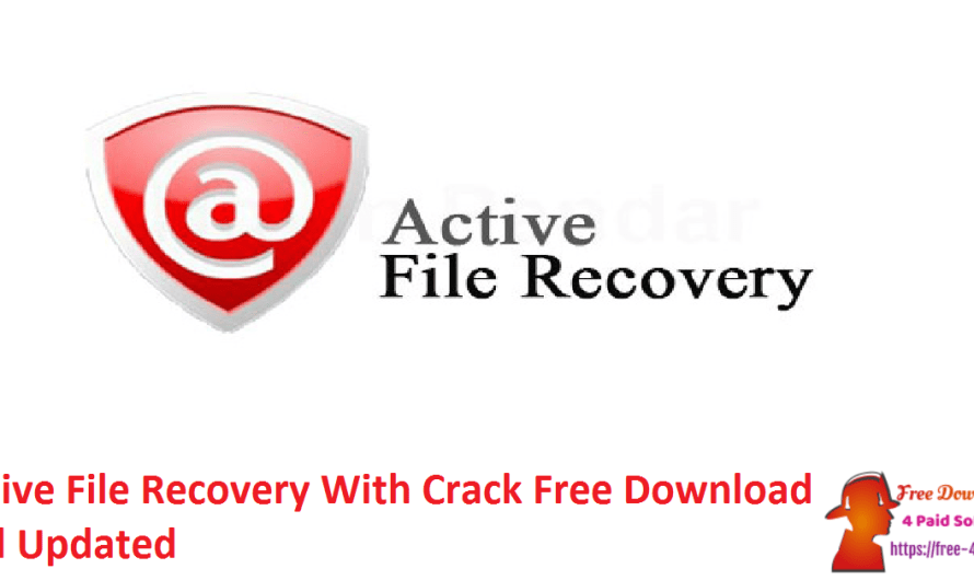 Active File Recovery 21.0.2 With Crack Free Download Full [Updated]