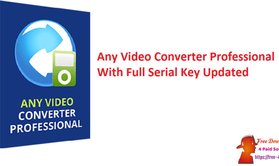 Any Video Converter Professional 7.1.3 With Full Serial Key [Updated]