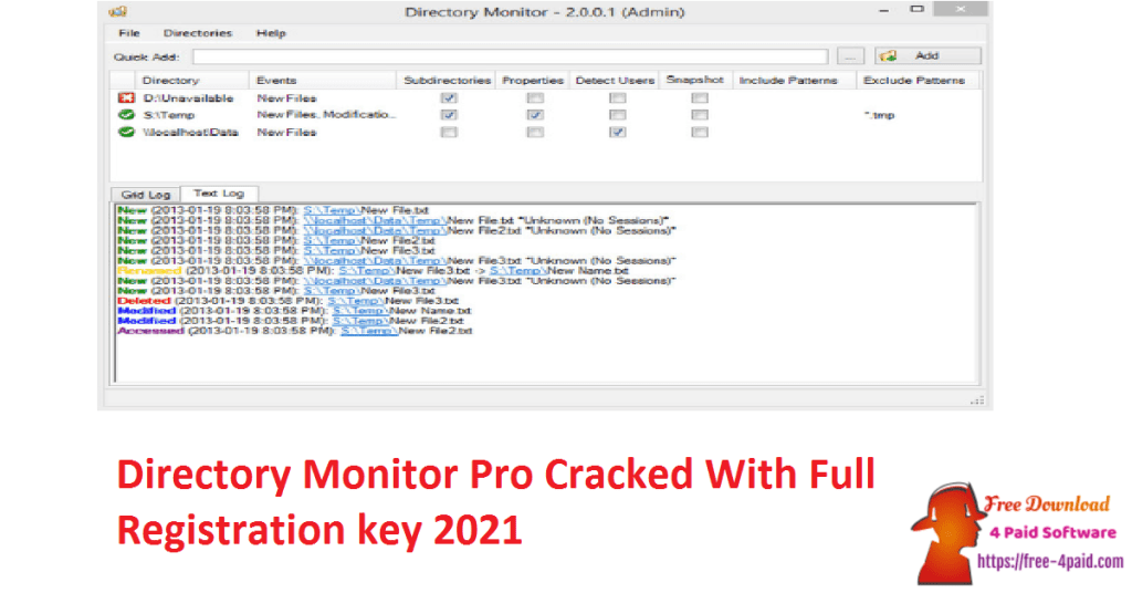 Directory Monitor Pro Cracked With Full Registration key 2021