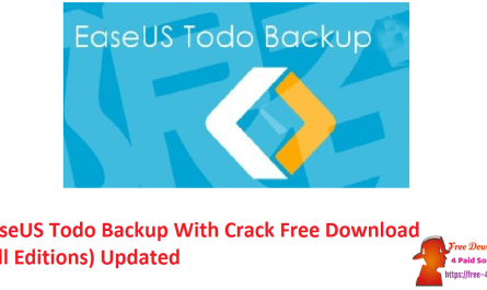 EaseUS Todo Backup With Crack Free Download (All Editions) Updated