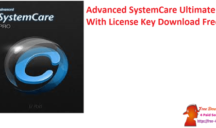 Advanced SystemCare Ultimate With License Key Download Free