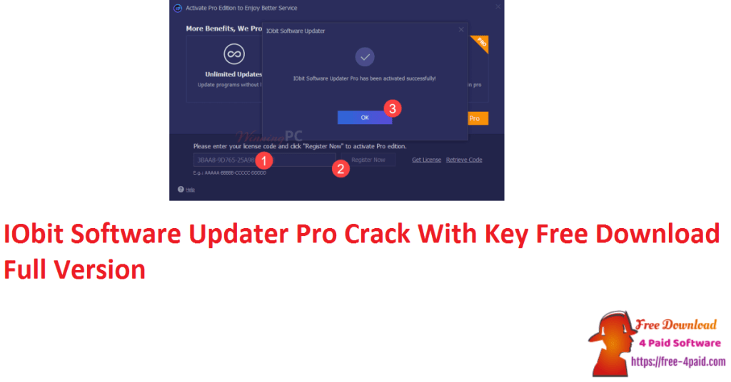 IObit Software Updater Pro Crack With Key Free Download Full Version