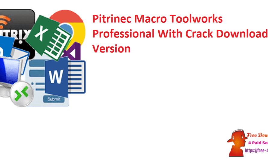 Pitrinec Macro Toolworks Professional 9.3.1 Crack Download Version