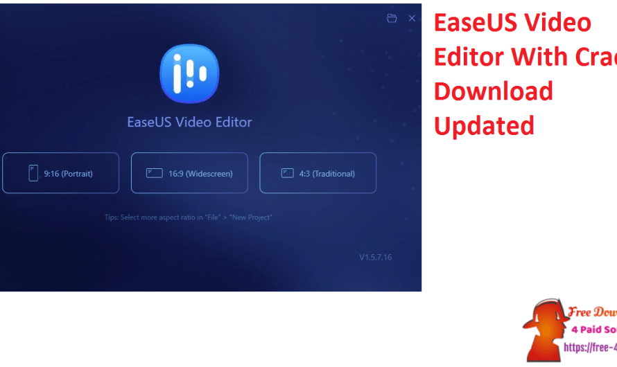 EaseUS Video Editor 1.7.1.55 With Crack Download [Updated]