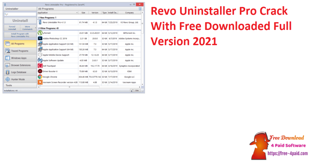 Revo Uninstaller Pro Crack With Free Downloaded Full Version 2021