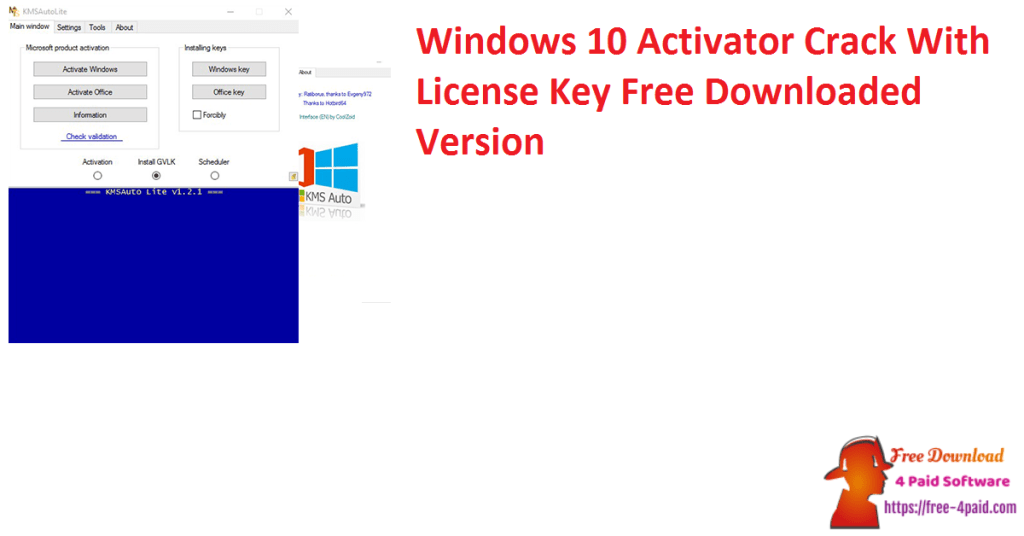 Windows 10 Activator Crack With License Key Free Downloaded Version