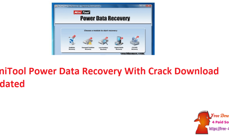 MiniTool Power Data Recovery 10.0 With Crack Download [Updated]