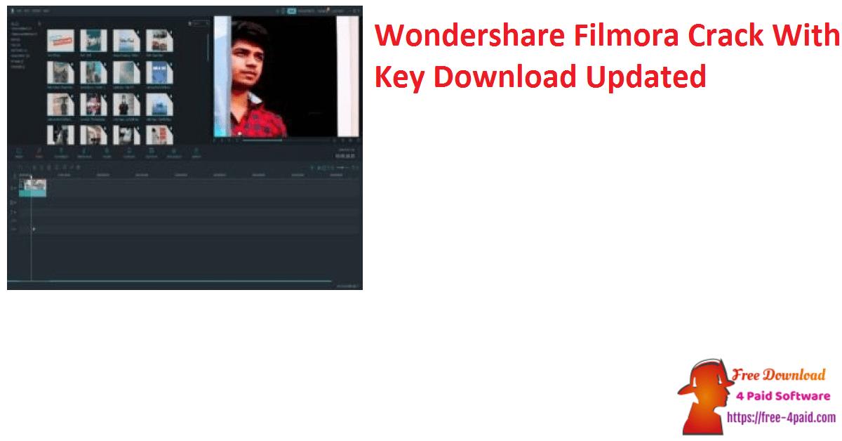 Wondershare Filmora Crack With Key Download Updated
