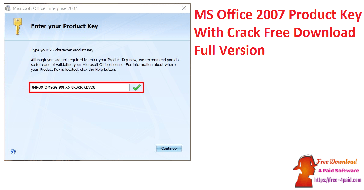 MS Office 2007 Product Key With Crack Free Download Full Version