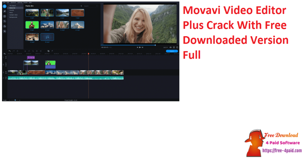 Movavi Video Editor Plus Crack With Free Downloaded Version Full