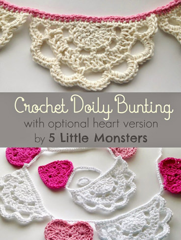 Free Crochet Pattern Doily Bunting