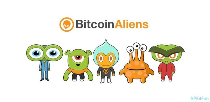 Bitcoin Aliens | Mobile Apps | Free Crypto Coins