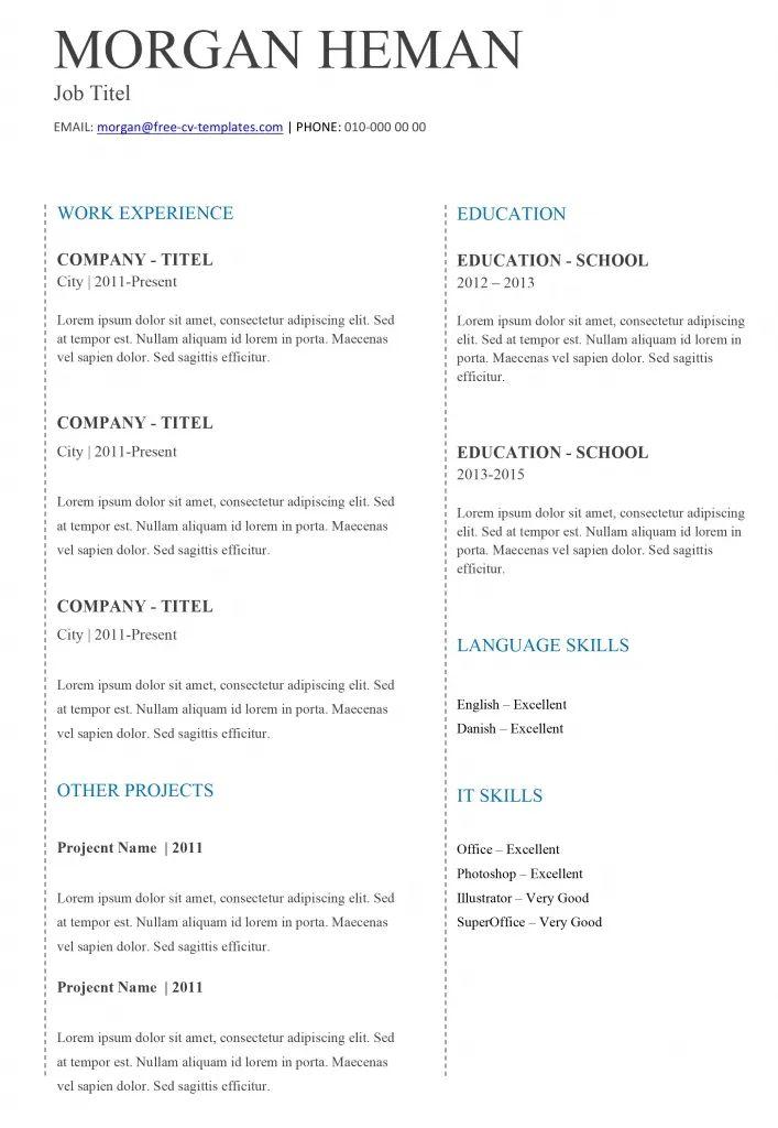 basic cv templates