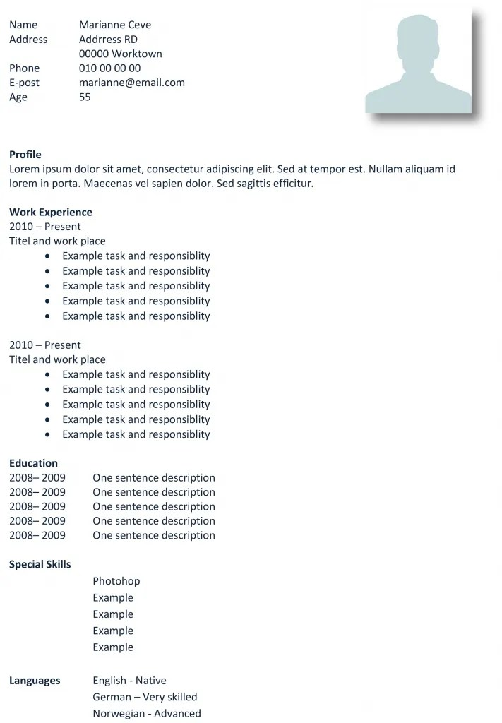 Basic CV templates in Microsoft Word   Land the job with our free ...