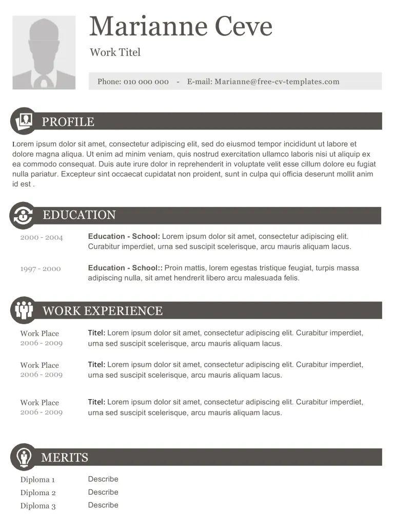 free basic resume templates word