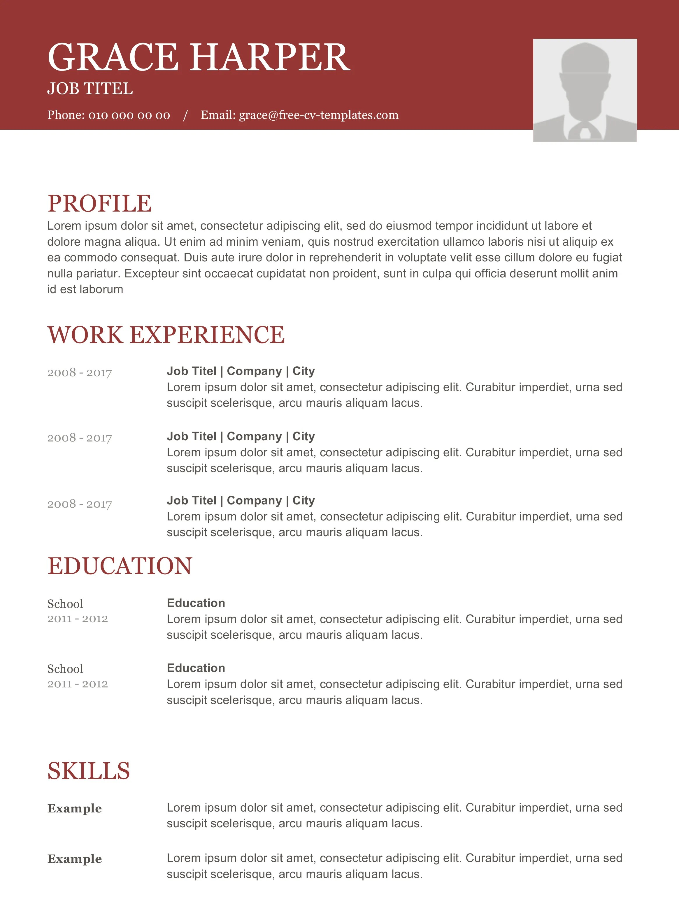 Top Ten Resume Format Modern Grace Beautiful And Traditional Cv Template