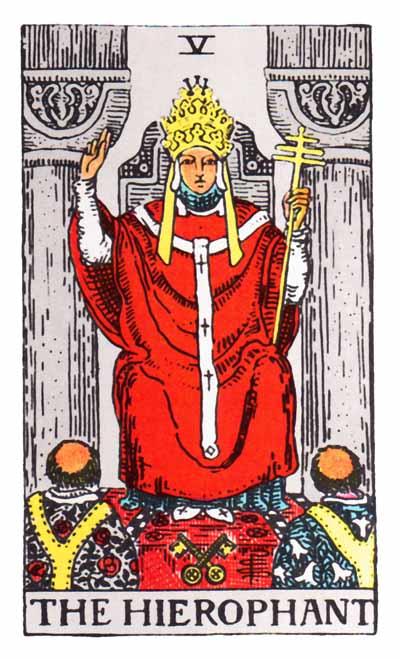 Tarot Hierophant Card