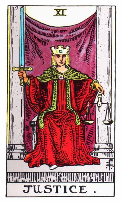 Tarot Justice Card