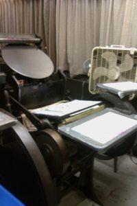 APO's letterpress