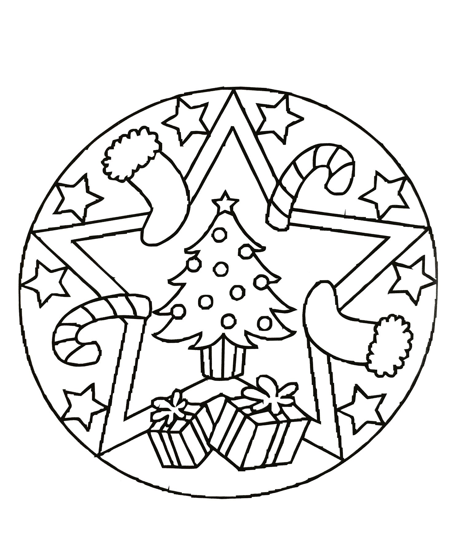 Christmas Mandalas : christmas, mandalas, Christmas, Mandala, Gifts, Anti-stress, Mandalas