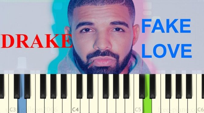 Drake – Fake Love – Easy Piano Tutorial (Slow)