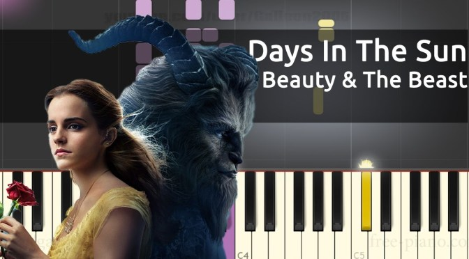Beauty And The Beast – Days In The Sun – Piano Tutorial