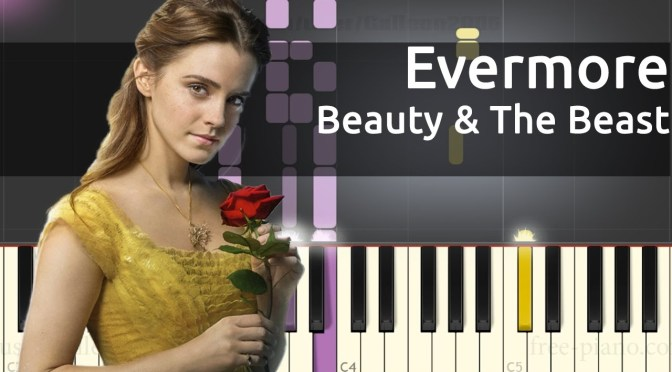 Beauty And The Beast Soundtrack Evermore Piano Tutorial