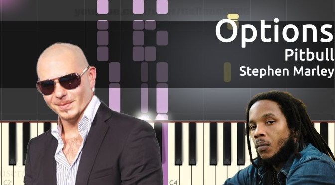 Pitbull – Options ft  Stephen Marley – Piano Tutorial