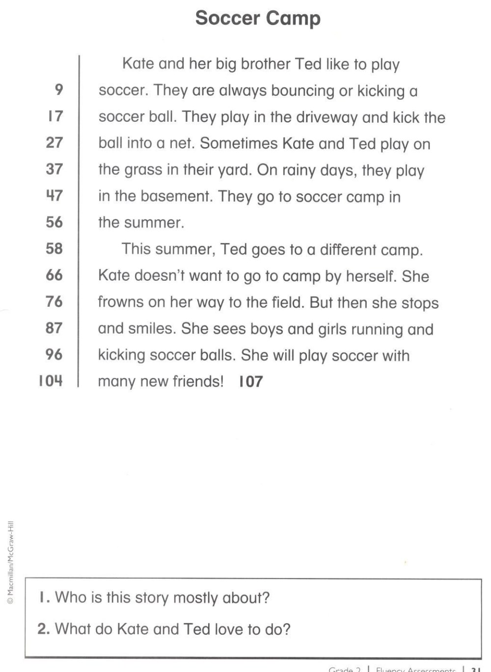 medium resolution of 3rd Grade Reading Fluency Worksheets Free   Printable Worksheets and  Activities for Teachers