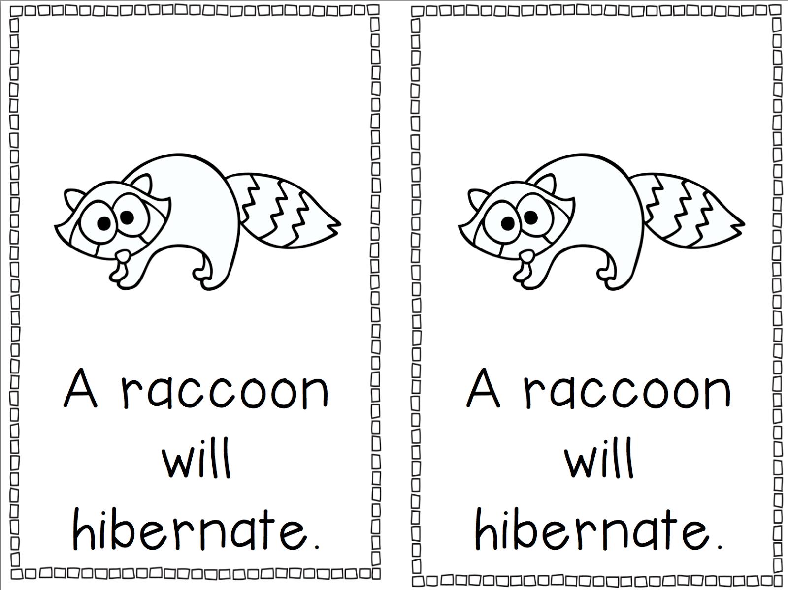 Free Printable Hibernation Worksheets