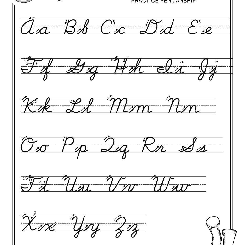Cursive Lettering Alphabet Capital Letters Alphabet