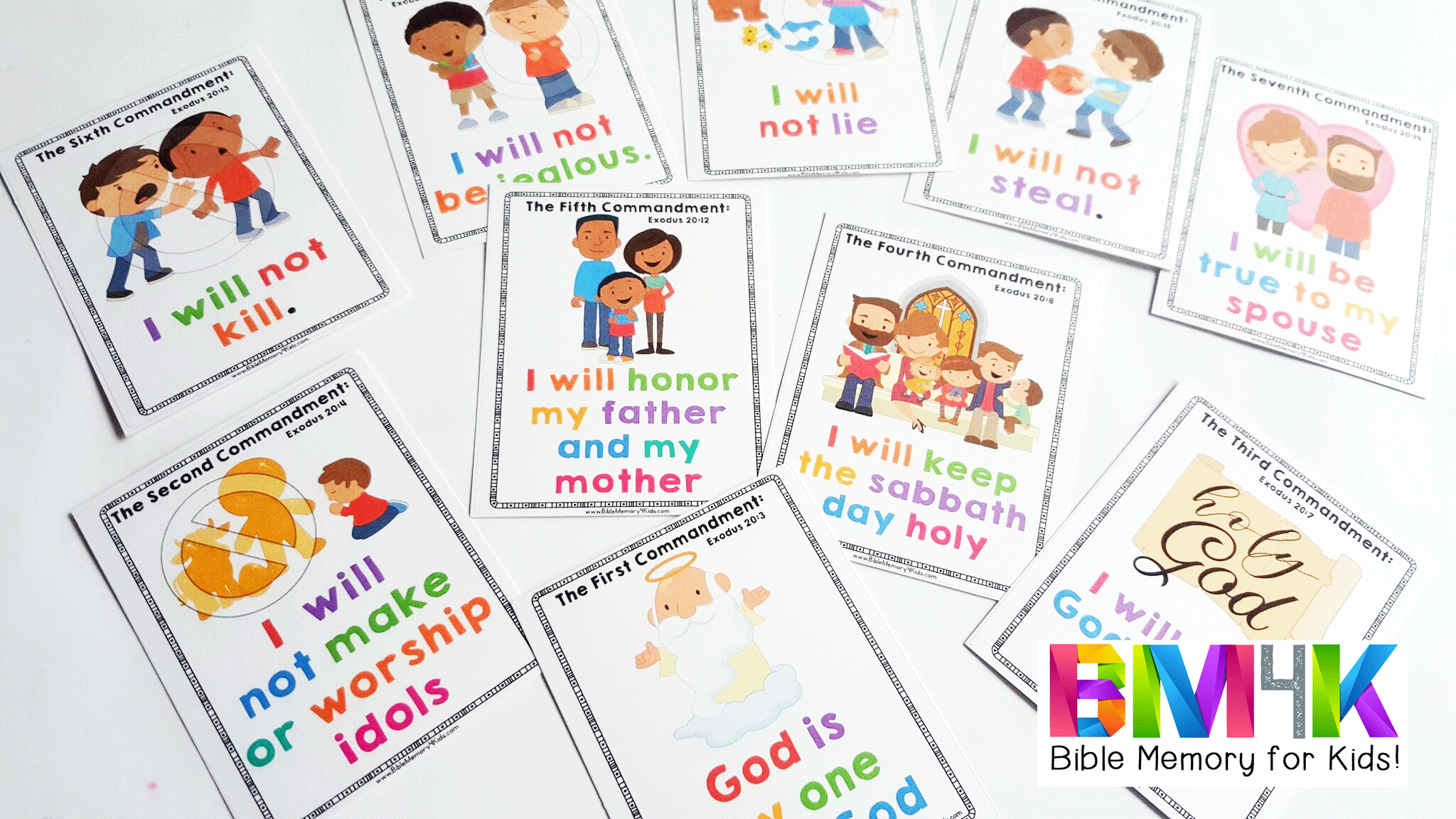 Simple 10 Commandments For Kids Free Print Easy Hand